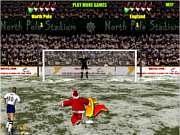 Santa penalty kick world cup